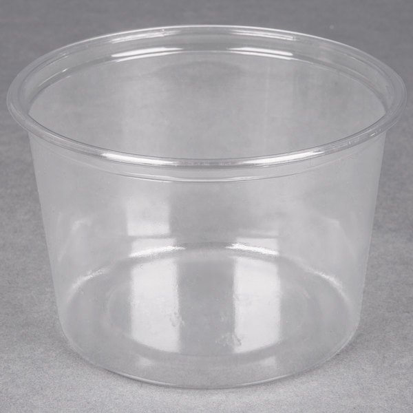 Choice 16 oz. Ultra Clear Plastic Round Deli Container - 500/Case