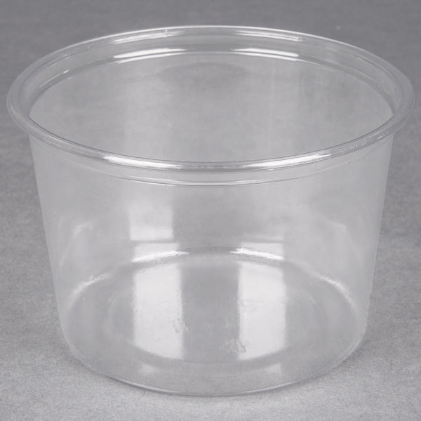 Choice 16 oz. Clear Plastic Round Deli Container - 500/Case