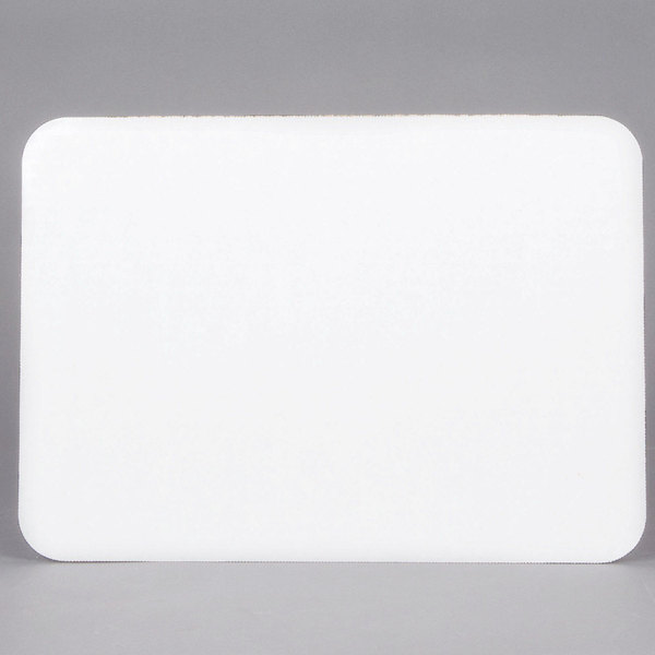 "Southern Champion 1149 14"" x 10"" Corrugated Grease Proof White Quarter Sheet Cake Pad - 100/Box"
