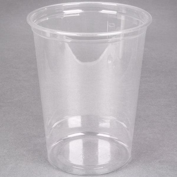 Choice 32 oz. Ultra Clear Plastic Round Deli Container - 500/Case