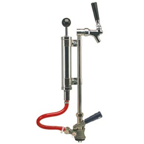 """Micro Matic 7520J-9 8"""" Chrome Supreme Picnic Pump with Pressure Relief Valve and Chrome-Plated Faucet - """"S"""" System"""