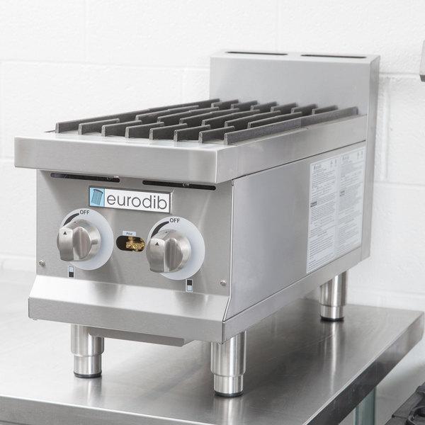 "Eurodib HP212 12"" Two Burner Gas Countertop Range - 60,000 BTU Main Image 12"