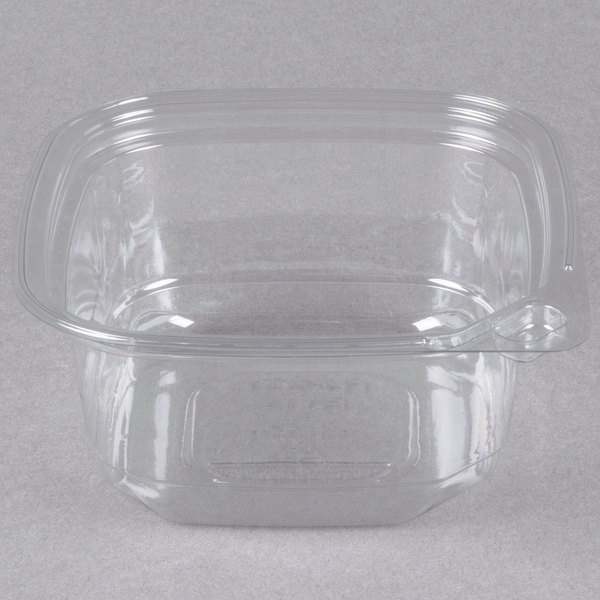 12 oz. Square Recycled PET Deli Container - 50/Pack Main Image 1