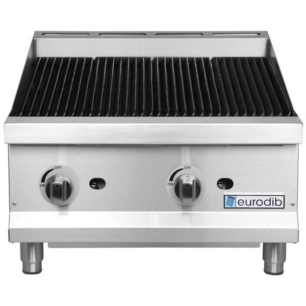 "Eurodib CBR24 24"" Gas Radiant Countertop Charbroiler - 80,000 BTU"