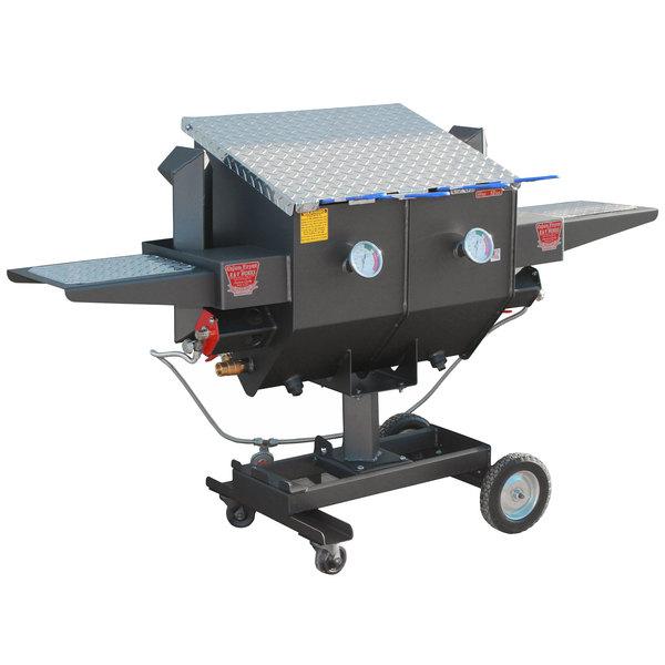 R & V Works FF4 12 Gallon Outdoor Cajun Deep Fryer with 1 Divider