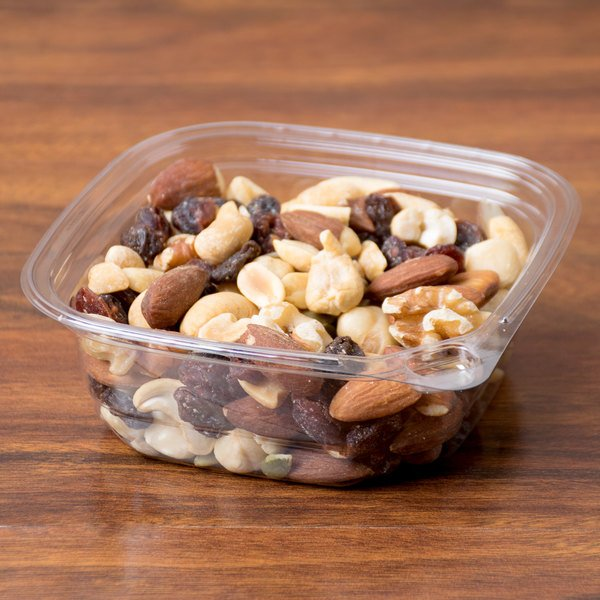 8 oz. Square Recycled PET Deli Container - 50/Pack Main Image 3