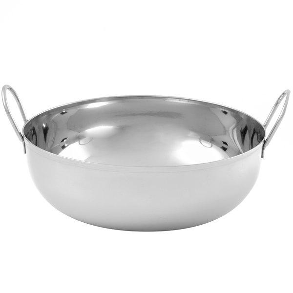 "American Metalcraft BD93 105 oz. Stainless Steel Balti Dish - 9"" x 3 1/4"" Main Image 1"