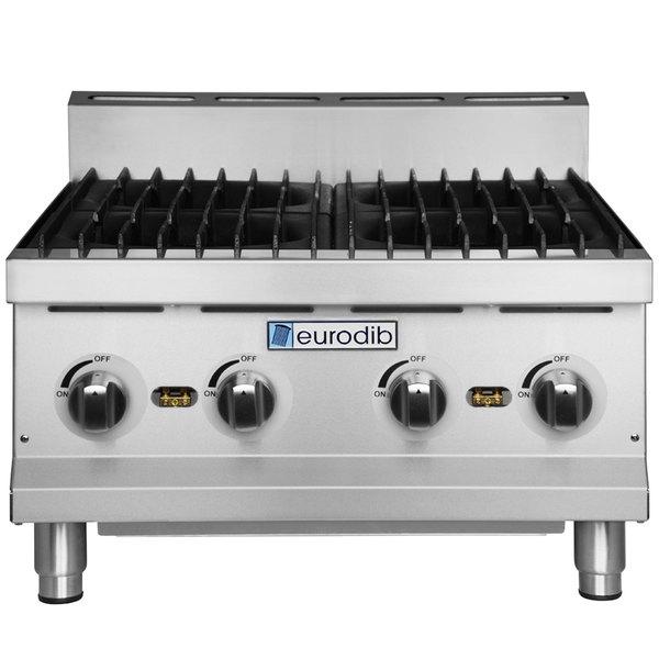 "Eurodib HP424 24"" Four Burner Gas Countertop Range - 120,000 BTU"