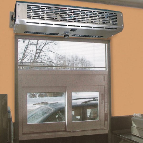 "Curtron DT-24 2 Go Pro 24"" Drive-Thru Window Air Curtain with Electric Heater - 120V"