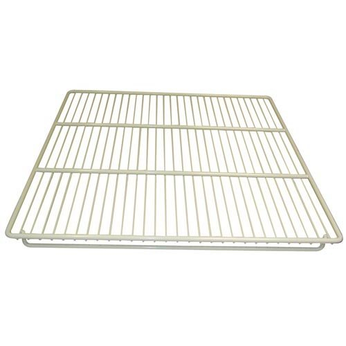 "Continental Refrigerator 5-265 21 1/2"" x 16 1/2"" Epoxy-Coated Steel Shelf with Clips"