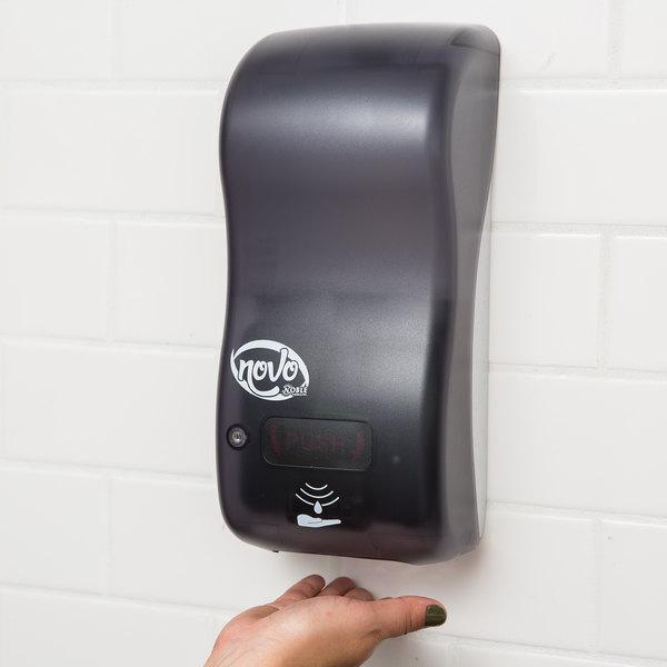 "Noble Chemical Novo Hybrid 30.4 oz. (900 mL) Touchless Foaming Soap / Sanitizer Dispenser - 5 1/2"" x 4"" x 12"""