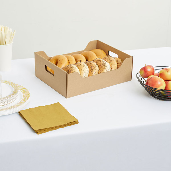 """LBP 9631 15 1/4"""" x 10 3/4"""" x 4 3/4"""" Small Catering Tray with Cover - 15/Case Main Image 3"""