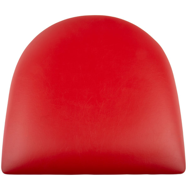 """Lancaster Table & Seating Spartan Series Chair / Barstool 2 1/2"""" Red Vinyl Padded Seat Main Image 1"""