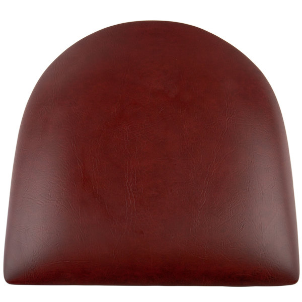 "Lancaster Table & Seating Spartan Series Chair / Barstool 2 1/2"" Burgundy Vinyl Padded Seat Main Image 1"