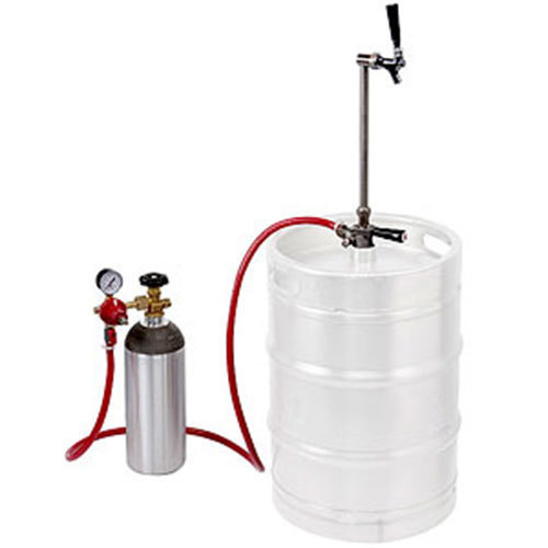 "Micro Matic EZ-TAP-S Keg Party Dispensing System with CO2 Cylinder and Chrome-Plated Faucet - ""S"" System"