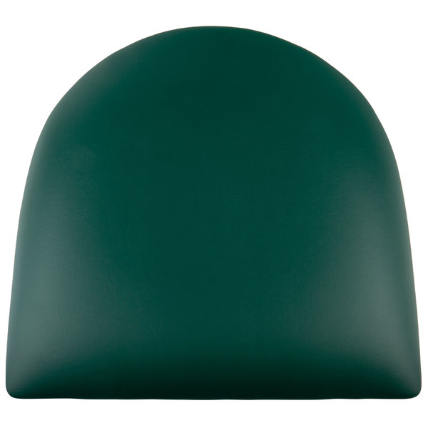 """Lancaster Table & Seating Spartan Series Chair / Barstool 2 1/2"""" Green Vinyl Padded Seat"""