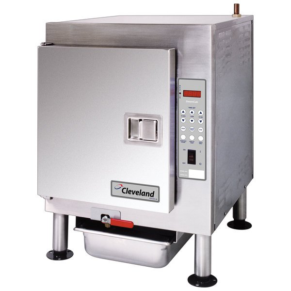 Cleveland 1SCE SteamCub Plus 5 Pan Electric Countertop Steamer - 240V, 1 Phase, 12 kW Main Image 1