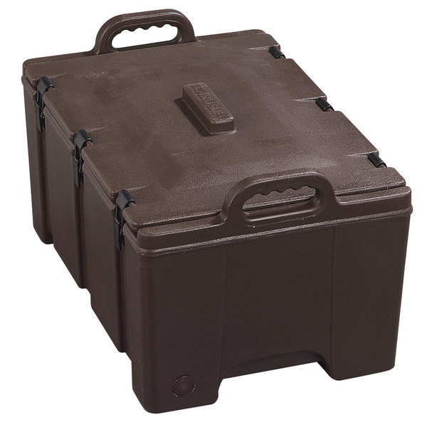 """Carlisle PC180N01 Cateraide™ Brown Top Loading 8"""" Deep Insulated Food Pan Carrier Main Image 1"""