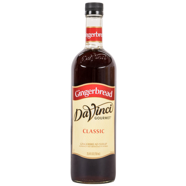 DaVinci Gourmet 750 mL Gingerbread Classic Coffee Flavoring Syrup