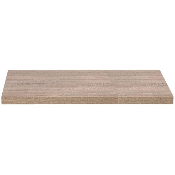 "Grosfillex US48VG59 VanGuard 30"" x 48"" Weathered Oak Resin Indoor Table Top Main Image 1"