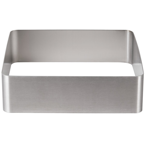 "American Metalcraft A302S Vidacasa S1 Series 12 1/4"" x 3 3/8"" Square Stainless Steel Frame"