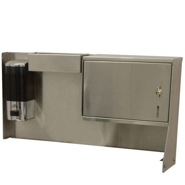 Advance Tabco TA-MSC-2 Bolt-On Towel Dispenser, Soap Dispenser, and Drip Tray Unit