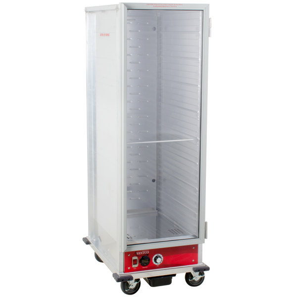 Avantco HEAT-1836 Full Size Non-Insulated Heated Holding Cabinet with Clear Door - 120V