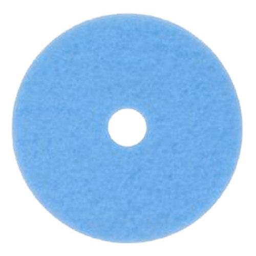 "3M 3050 Hi-Performance 17"" Sky Blue Burnishing Floor Pad - 5/Case Main Image 1"