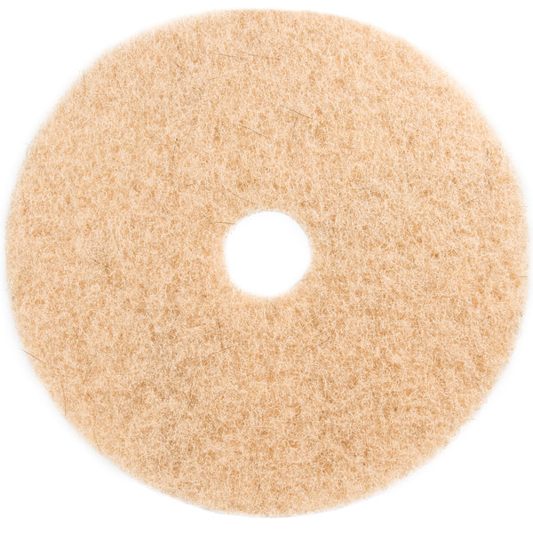"3M 3500 20"" Natural Blend Tan Heavy Duty Burnishing Floor Pad - 5/Case"