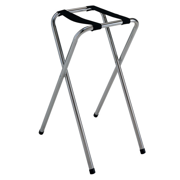 """GET TSC-101 30 1/2"""" Folding Chrome Tray Stand"""