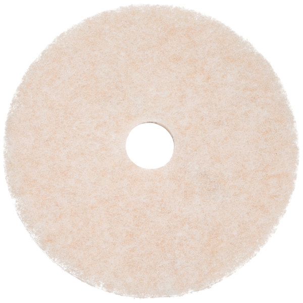 "3M 3200 TopLine Speed 24"" White / Amber Burnishing Floor Pad - 5/Case"
