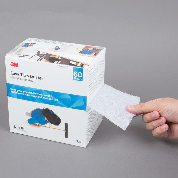 "3M 59032W Easy Trap 5"" x 6"" x 30' Duster Sheet Roll - 60/Box"