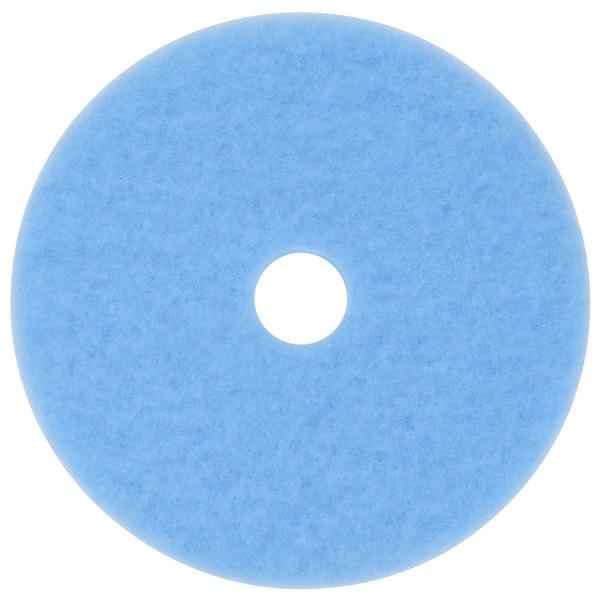 "3M 3050 Hi-Performance 18"" Sky Blue Burnishing Floor Pad - 5/Case"
