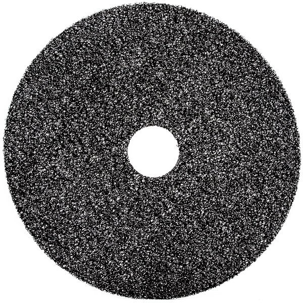 "3M 7300 18"" Black High Productivity Stripping Floor Pad - 5/Case"