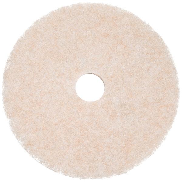 "3M 3200 TopLine Speed 17"" White / Amber Burnishing Floor Pad - 5/Case"