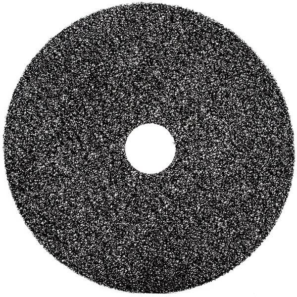 "3M 7300 17"" Black High Productivity Stripping Floor Pad - 5/Case Main Image 1"