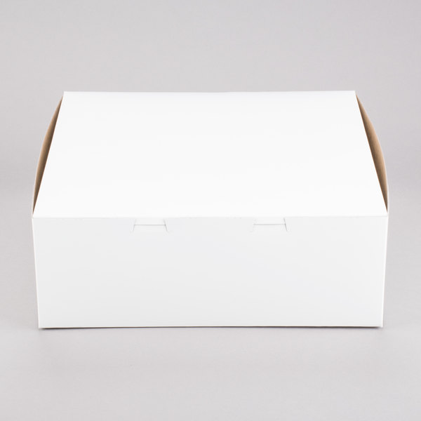 """Southern Champion 0991 14"""" x 14"""" x 5"""" White Cake / Bakery Box - 50/Bundle"""