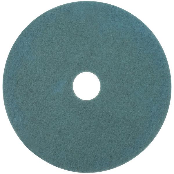 """3M 3100 24"""" Aqua Burnishing Floor Pad - 5/Case Main Image 1"""