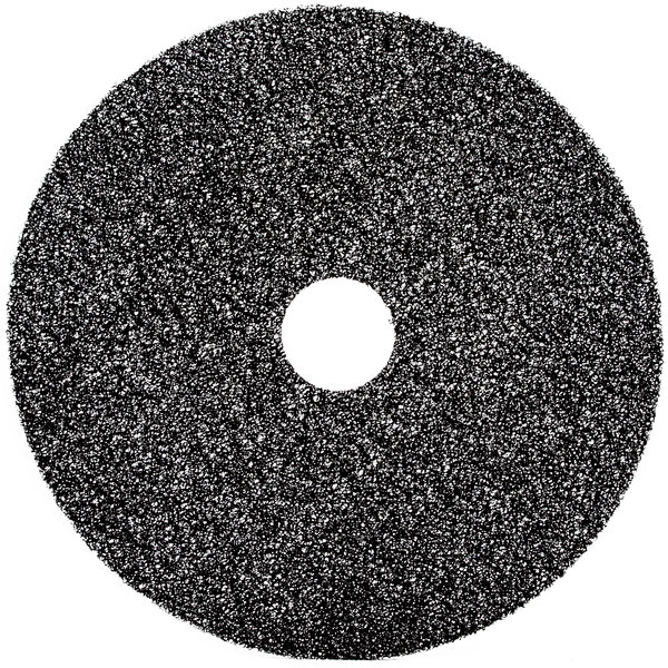 "3M 7300 16"" Black High Productivity Stripping Floor Pad - 5/Case"