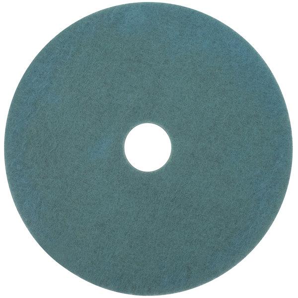 "3M 3100 17"" Aqua Burnishing Floor Pad - 5/Case"