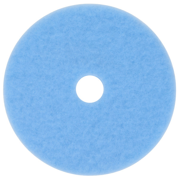 "3M 3050 Hi-Performance 19"" Sky Blue Burnishing Floor Pad - 5/Case Main Image 1"