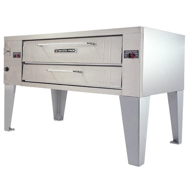 """Bakers Pride Y-600 Super Deck Y Series Natural Gas Single Deck Pizza Oven 60"""" - 120,000 BTU"""