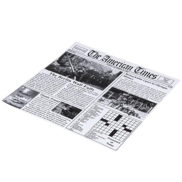 """1000 Case Choice 12/"""" x 12/"""" Newspaper Print Deli Sandwich Wrap Paper Disposable"""