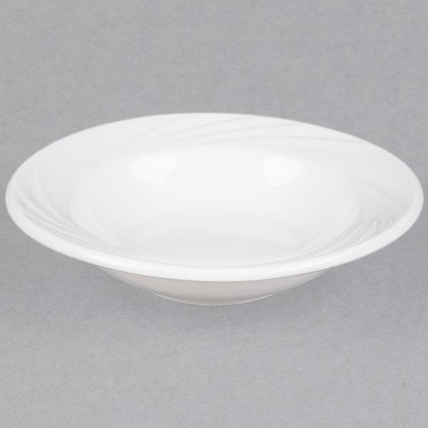 CAC GAD-11 Garden State 5.5 oz. Bone White Porcelain Fruit / Monkey Dish - 36/Case