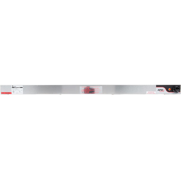 """APW Wyott FDDL-54H-I 54"""" High Wattage Lighted Calrod Double Food Warmer with Infinite Controls - 208V, 3010W"""