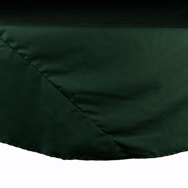 132 inch Forest Green Round Hemmed Polyspun Cloth Table Cover