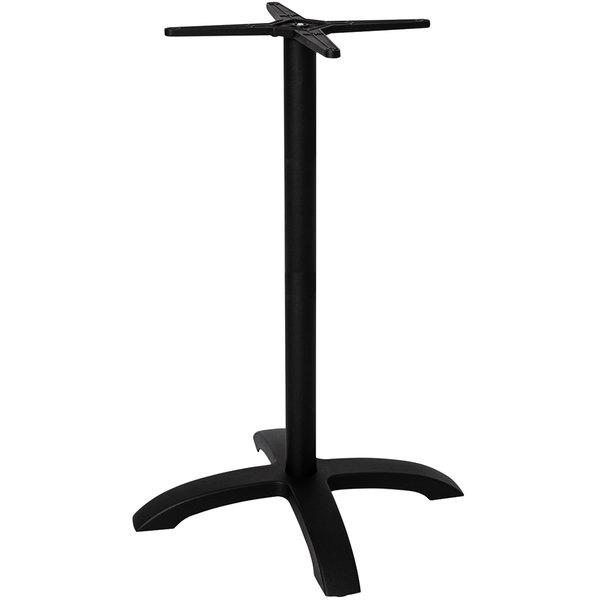BFM Seating PHTB2626BLT Bali Outdoor / Indoor Black Bar Height 4-Leg Table Base