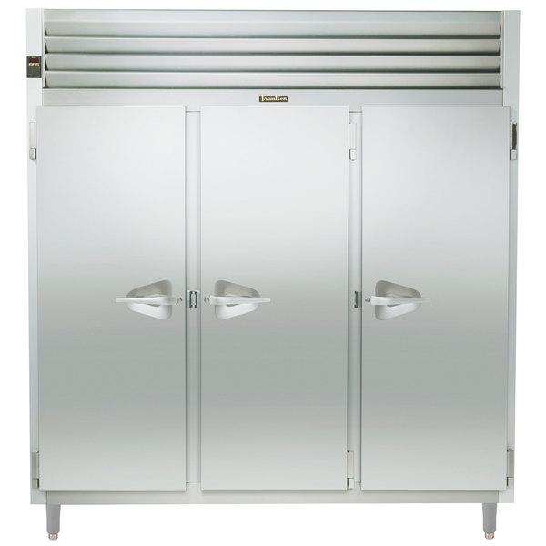 Traulsen AHT332NPUT-FHS 73.1 Cu. Ft. Three Section Solid Door Narrow Pass-Through Refrigerator - Specification Line