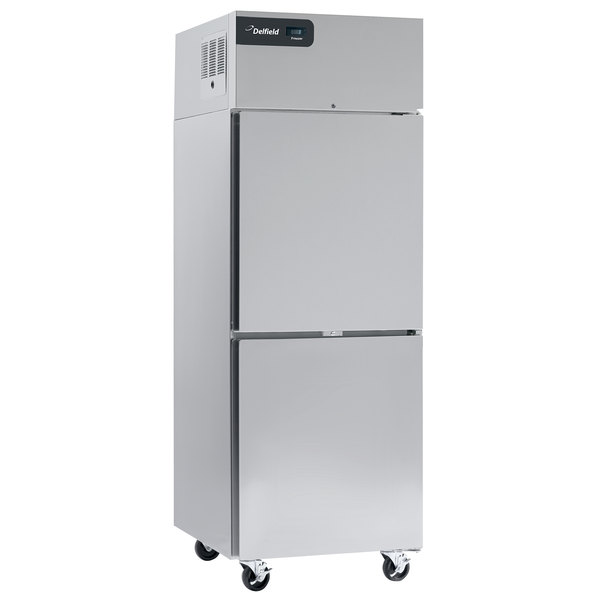 "Delfield GBSF1P-SH Coolscapes 27"" Top-Mount One Section Half Door Stainless Steel Reach-In Freezer - 21 cu. ft. Main Image 1"