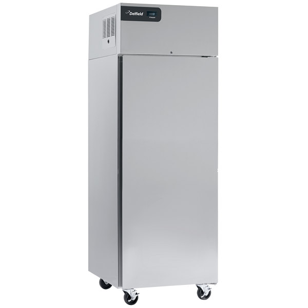 "Delfield GBSF1P-S Coolscapes 27"" Top-Mount One Section Solid Door Stainless Steel Reach-In Freezer - 21 cu. ft."